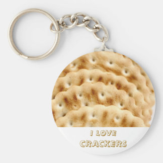 Crackers Basic Round Button Key Ring