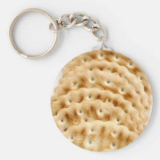Crackers Basic Round Button Key Ring