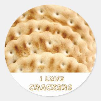 Crackers Round Sticker