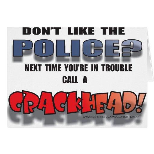 CRACKHEAD GREETING CARD
