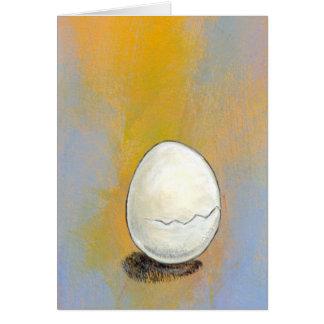 Cracking - beautiful egg potential art CUSTOMIZE Greeting Card