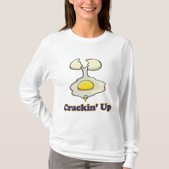 cracking up cracked egg T-Shirt