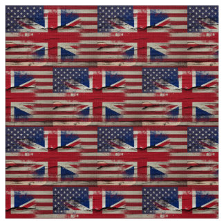 Crackle Paint | British American Flag Fabric