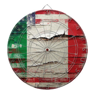 Crackle Paint | Italian American Flag Dartboard