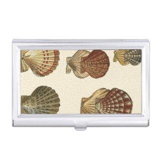 Crackled Antique Shells Business Card Holder