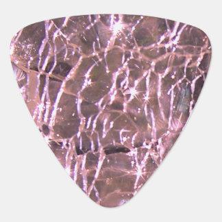 Crackled Glass Birthstone Design June Alexandrite Guitar Pick
