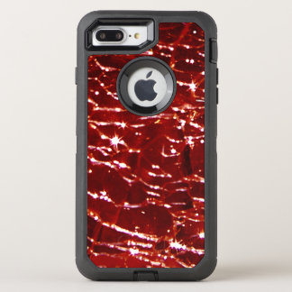 Crackled Glass Birthstone January Red Garnet OtterBox Defender iPhone 7 Plus Case