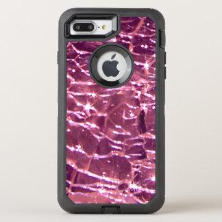 Crackled Glass Birthstone October Pink Tourmaline OtterBox Defender iPhone 7 Plus Case