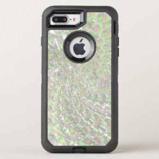 Crackled Glass Swirl Design - Opal OtterBox Defender iPhone 7 Plus Case