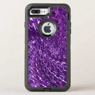 Crackled Glass Swirl Design - Purple Amethyst OtterBox Defender iPhone 7 Plus Case