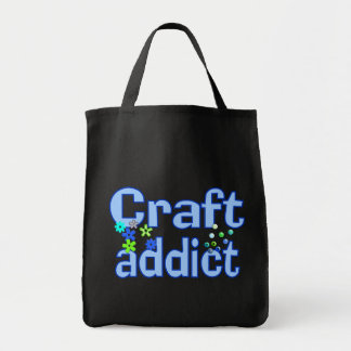 Craft Addict Beads Design Gift Grocery Tote Bag