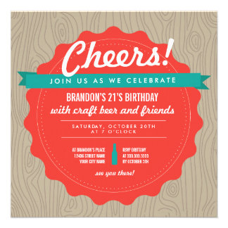 Craft Beer Birthday Invite