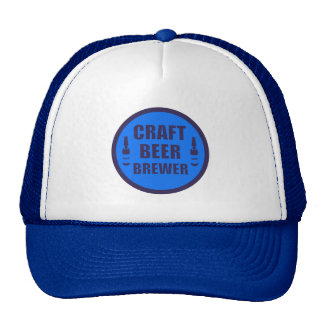 Craft Beer Brewer- Blue and Black Cap