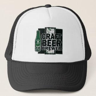 Craft Beer Brewer - Green & Black Worn Logo Trucker Hat