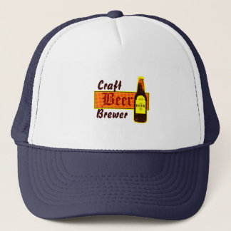 Craft Beer Brewer,Orange & Yellow Trucker Hat