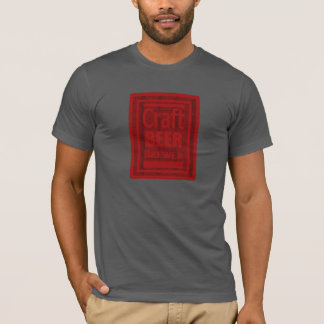 Craft Beer Brewer Red Square Fade Design T-Shirt