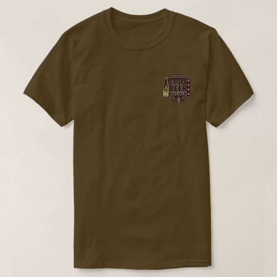 Craft Beer Brewer-Wood Grain Look T-Shirt