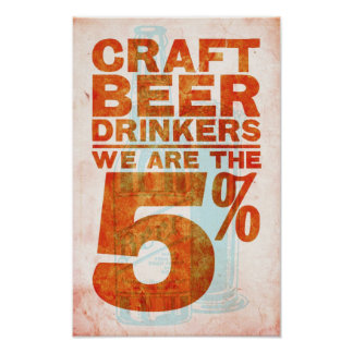 Craft Beer Drinkers—We Are The 5% Poster