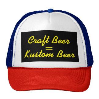 Craft Beer = Kustom Beer Yellow Cap