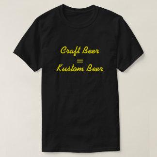 Craft Beer = Kustom Beer Yellow T-shirts