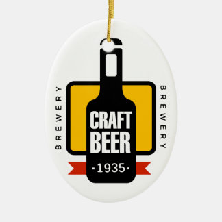 Craft Beer Logo Design Template Christmas Ornament