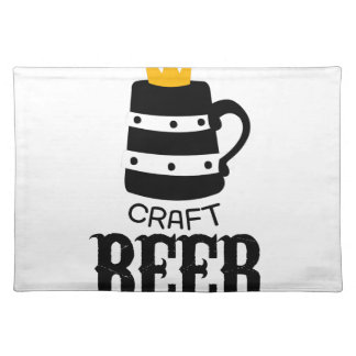 Craft Beer Logo Design Template With Crown Placemat