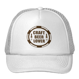 Craft Beer Lover -Brown & White Cap