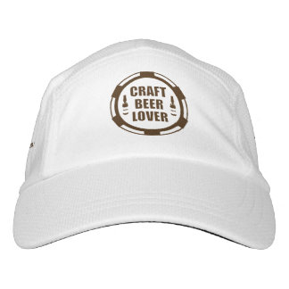Craft Beer Lover -Brown & White Hat