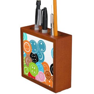 Craft Buttons Art Pattern Desk Organizer