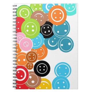 Craft Buttons Pattern Notebook