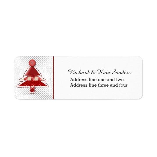Craft Christmas Tree Return Address Label