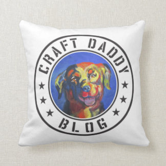 Craft Daddy Blog Logo Pillow