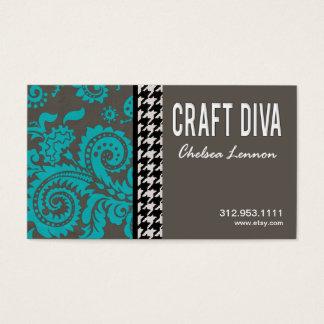 Craft Diva Artist Handicrafts Knitting Quilting Business Card