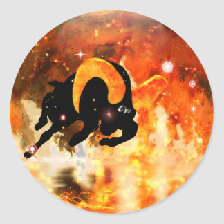 Craft Dungeon Zodiac - Aries Classic Round Sticker