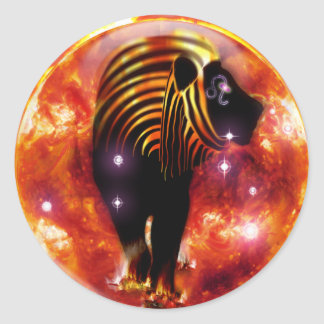 Craft Dungeon Zodiac-Leo Classic Round Sticker