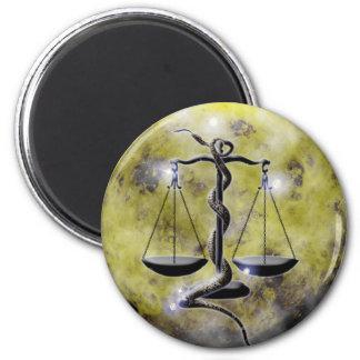 Craft Dungeon Zodiac-LIbra 6 Cm Round Magnet