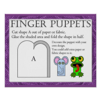 Craft Make a finger puppet Posters