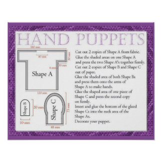 Craft, Making hand puppets Posters
