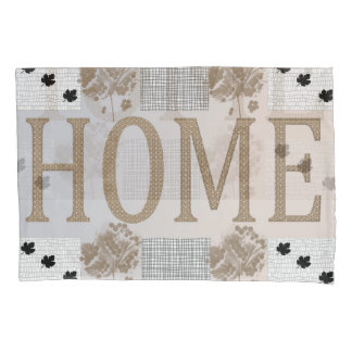 Craft, Pale Brown,Grey  HOME  Pillow Case