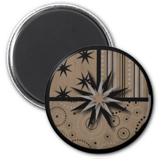 Craft Paper look Magic and Witchcraft Prints 6 Cm Round Magnet