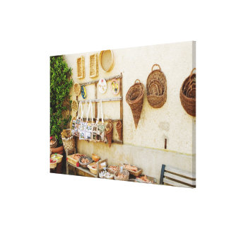 Craft product at a market stall, Siena Province, Canvas Print