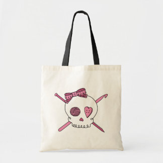 Craft Skull (Pink) Budget Tote Bag