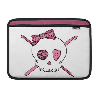 Craft Skull (Pink) Sleeve For MacBook Air