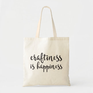 Craftiness is Happiness Tote Bag