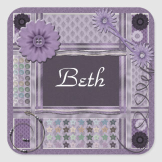 Crafting Enthusiast Square Sticker