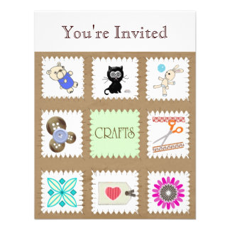 Crafts You re Invited Announcement