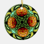 Craftsman Autumn Garden (Ceramic Fan Pull / Orname
