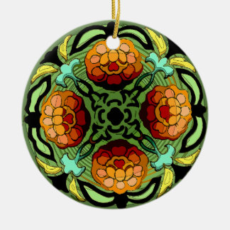 Craftsman Autumn Garden (Ceramic Fan Pull / Orname Christmas Ornament