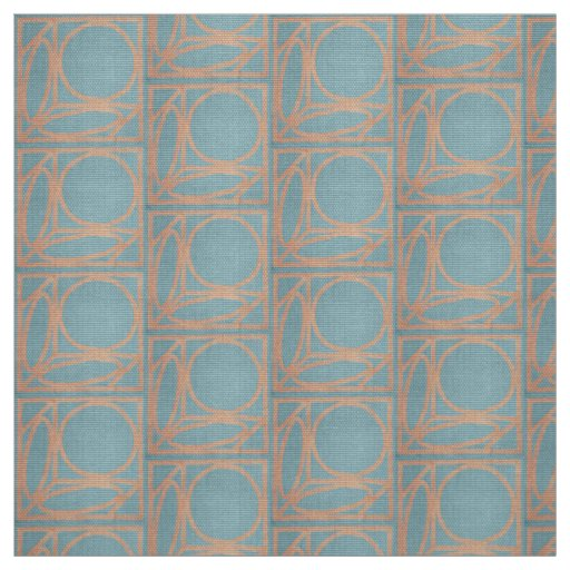 Craftsman Optical Illusion (Chambray and Cinnamon) Fabric