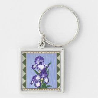 Craftsman Purple Iris Keychain